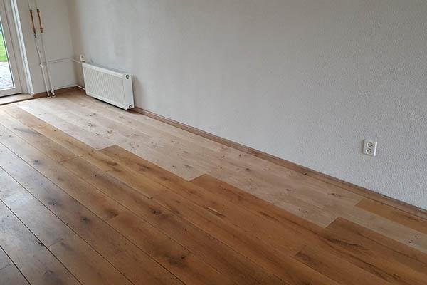 Eiken vloer schuren al vloeren venlo houten vloeren venlo