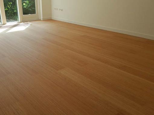 Bamboo Noble Plain pressed caramel vloer leggen Venlo