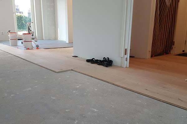 Eiken Multiplank vloer leggen Velden 01