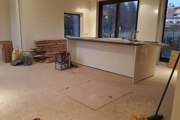 Eiken Multiplank vloer leggen Villa in Oosterbeek 01
