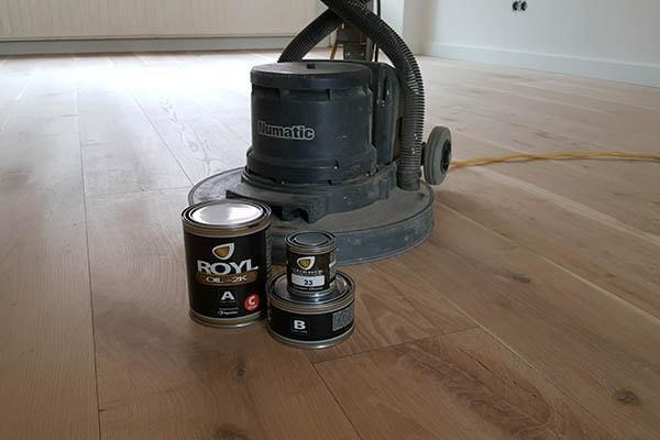 Massief eiken vloer schuren en olien Venlo 04